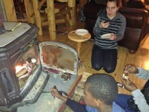Armon roasting marshmellow