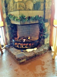 Fire place in the warming house