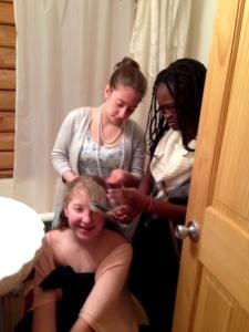 Girls hair styling
