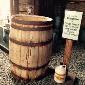 Maple syrup barrel