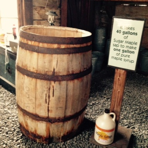 Maple syrup barrel
