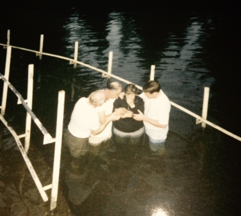 Baptised in the Jordan River