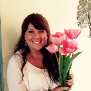 Jessica with Tulips