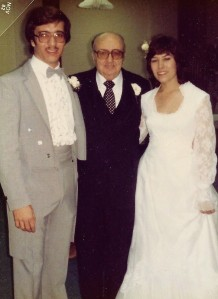 Pam & Gene & Dad wedding
