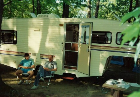 Jerry & Rob camping
