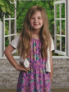 Maddie nine years old!