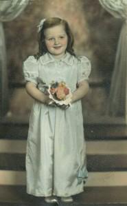 Anita Flower Girl, 4 yrs.